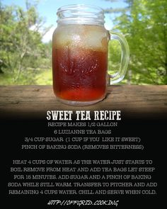 Southern Sweet Tea Recipe Summer Drinks, Cocktail Drinks, Fun Drinks, Non Alcoholic Drinks, Cold Drinks, Refreshing Drinks, Beverages, Cocktails, Best Iced Tea Recipe