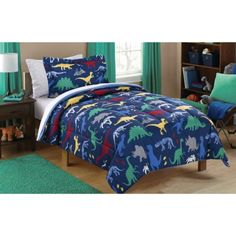 Free 2-day shipping on qualified orders over $35. Buy Mainstays Kids Dino Roam Bed in a Bag Bedding Set at Walmart.com