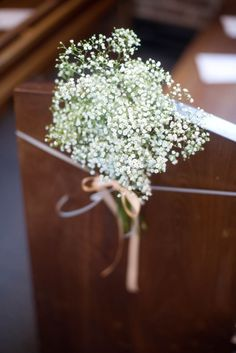 Gypsophila pew end decoration - Image by Dan Maudsley