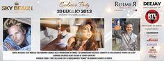 EXCLUSIVE PARTY – SPECIAL GUEST VERONICA CIARDI, DANIEL NILSSON,L'ALIENO – SKY BEACH SARDINIA – SABATO 20 LUGLIO 2013