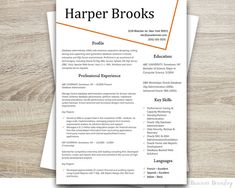 Resume Template Cv Template For Word   Pack  Social Media Icons