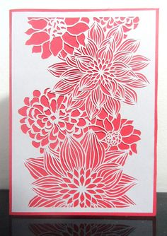 handcrafted papercut flower greeting card Like . Share . or just Stop by @ https://www.facebook.com/MyPaperCloud