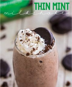 Thin mint milkshake!!