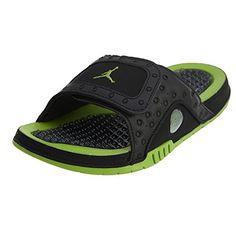 179ef821220d Jordan Men Jordan Hydro XIII Retro Slide black altitude green-altitude green  Size 11.0 US