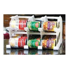 $43 - FIFO FIFO Mini Can Tracker- Food Storage Canned Foods Organizer/Rotater/Dispenser: Kitchen, Cupboard, Pantry- Rotate Up To 30 Cans