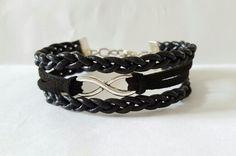Bracelet cuir noir tressé EloDie Bijoux