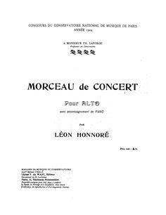 Morceau De Concert Sheet Music
