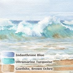 12. Summer colors - Daniel Smiths' extra fine watercolor triad: Sand & Surf