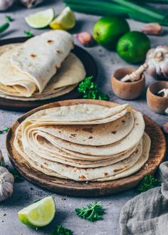 Homemade Tortillas Recipe for Tacos Wraps Burritos Bianca Zapatka Taco Wraps, Quesadillas, Tortilla Recipe, Vegan Tortilla, Homemade Tortillas, Wrap Recipes, Easy Recipes, Dinner Recipes, Evening Meals