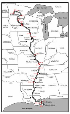 Minn of the Mississippi map
