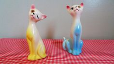 Vintage Cat Salt And Pepper Shakers Mid Century by CaitlandStudio