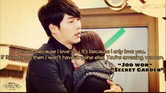 20 Beautiful Love Quotes from Korean Dramas garden kdrama Korean Drama Best, Korean Drama Quotes, Korean Dramas, Secret Garden Korean, Secret Garden Kdrama, Secret Garden Quotes, Legend Of Blue Sea, Drama Funny, Beautiful Love Quotes