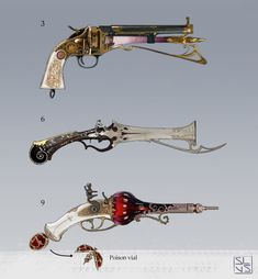 Armor Concept, Weapon Concept Art, Space Fantasy, Dark Fantasy Art, Dnd Dragons, Dungeons And Dragons, Steampunk Weapons, Gear Art, Anime Poses Reference