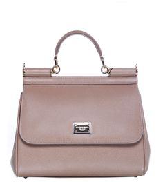 Dolce & Gabbana Beige Leather Miss Sicily Bag