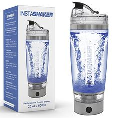 Electric Protein Shaker Bottle - Blender Bottle 20 oz / 600 ml. USB Rechargeable Vortex Mixer Cup with Bonus Powder Storage Compartment and Gift Box Protein Bottle, Protein Shaker Bottle, Blender Bottle, Best Amazon Gifts, Gift Boxes Online, Meal Replacement Drinks, Shaker Cup, Smoothie Mix