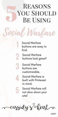 5 Reasons You Should Be Using Social Warfare via @cassidysheart