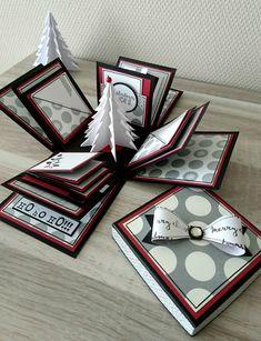 Origami Christmas Box Fun 66 Ideas For 2019 Mini Albums Scrap, Mini Scrapbook Albums, Scrapbooking Box, Boite Explosive, Exploding Box Card, Memories Box, Christmas Origami, Pop Up Cards, Folded Cards