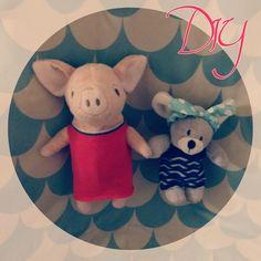 Net als in het Muizenhuis: zo maak je kleertjes voor de knuffels supersnel zelf #diy #doll #poppenhuis #crafts #pop #knuffel