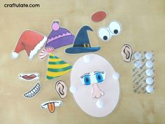 Face Parts Game - with free printable
