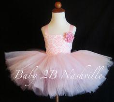 Pink Damask Birthday Tutu Dress 24T by Baby2BNashville on Etsy, $87.00