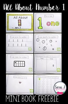 Number 1 Mini Book   Number sense! It is so important especially with our youngest learners. I've developed some number practice all focused on the number 1. It includes the mini book shown above but also includes matching cards a puzzle and clip cards. Click on the picture above or HERE to grab your copy.   kindergarten Math number book Number Sense PreK-2 preschool