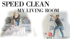 SPEED CLEAN MY LIVING ROOM / CLEAN HOUSE FAST