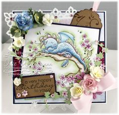 Dreamy Dragon, Whimsy Rubber Stamp by Sylvia Zet