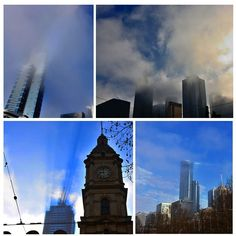 And the Fog begins to lift across #melbourne #melbweather #Melbwinter
