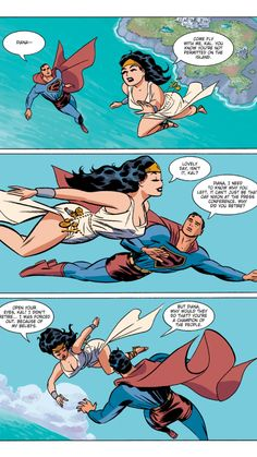 Superman and Wonder Woman from DC: The New Frontier by Darwyn Cooke