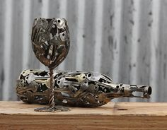 Artist Turns Old Keys And Coins Into Recycled Art - Moerkey :  boredpanda