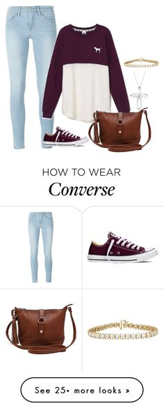 """Made by my mom!"" by kylovespickles on Polyvore featuring Frame, Victoria's Secret, Converse, M&Co, TruMiracle and madebymymom"