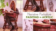 Take Online Acrylic Painting Lessons on Craftsy: Narrative Portraiture - Join artist Micah Ganske as he draws on the basics of mixing, glazing, and layering to create a narrative portrait in this online Fine Art class. - via @Craftsy