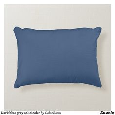 Dark blue grey solid color accent pillow Navy Blue Cushions, Navy Blue Throw Pillows, Grey Cushions, Soft Pillows, Accent Pillows, Blue Living Room Decor, Grey Home Decor, Living Room Cushions, Dark Blue Grey