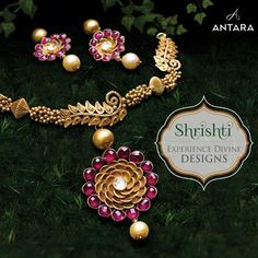Intricately crafted... to perfection, Antara's Shrishti Collection is extraordinary in more ways than one; it's inspired by nature, the cosmos and beyond. This festive season, make a colourful and graceful statement. Visit our store today to explore more of these divine designs.  #GoldJewellery #Designer #Masterpiece #IndianJewellery #PureGold #WomenJewellery #HighFashion #BeautifulDesigns #Exquisite #Luxury #Elegance #AntiqueJewellery #ShrishtiCollection