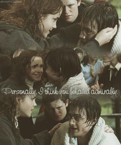 I always wanted a male friend like Hermione! He lived Ron but her and Harry were closer friendship wise and I envied her!