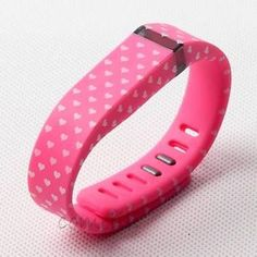 Pink & hearts fitbit flex band