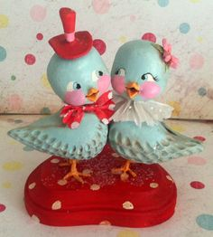 Custom order for Christiblue. Lovebirds. a by thepolkadotpixie