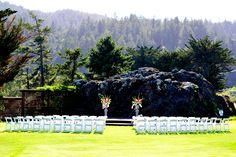 wedding ceremony; mountain backdrop, san geronimo
