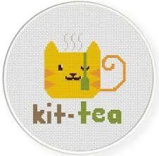 Bilderesultat for cross stitch tea
