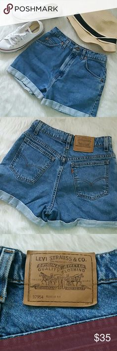 """Vintage Levi's jean shorts Classic! Vintage shorts from Levi's. Style 954. Cuffed at the bottom but can be cut off if you prefer the fringe  style. Waist measures approx. 27"""". Length measures approx. 14"""". Size tag states size 9 but please be sure to take proper measurements as this is a vintage item. No stains or rips, in excellent condition. Levi's Shorts Jean Shorts"""