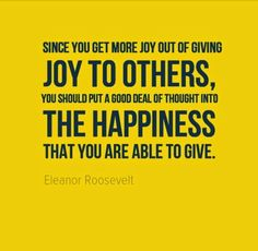 Give joy to others