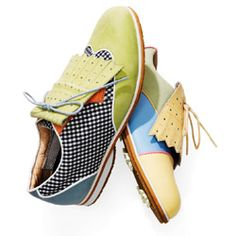 Designed specifically for the female foot, these whimsical wing-tip golf shoes are so comfortable, you'll want to wear them off the course.