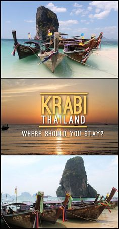 There are lots of beaches in Krabi, Thailand, but which one should you stay at? I'll help you find the answer. Travel in Asia. Krabi Thailand, Visit Thailand, Thailand Travel Tips, Asia Travel, Thailand Vacation, Philippines Travel, Koh Phangan, Vietnam, Kuala Lumpur