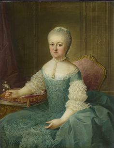 Portrait of a lady from the family of the Poll, presumably Dedel Anna Maria  1762  Guillaume de Spinny