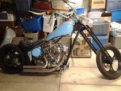 """Would make a great Bar Hopper BLUE CHOP!  113CI compression released motor  true softail chopper  cams & head work  nearly brand new transmission, 5-speed  super G carb with chrome billet style cone air cleaner  3"""" open BDL Belt Drive  21 front 250 rear  12 over springer front end  DNA controls and PM brake systems  all wires wired through frame  powder coated frame and tins    This bike is a bute and one of a kind nothing like this around here it's extreamly loud and fast as hell."""