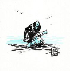 Encres : Capoeira - 89 [ #capoeira #ink #painting ]