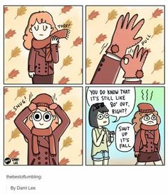 I did something similar to this with my mom. Sweater and long pants. IT'S FALL, PEOPLE.
