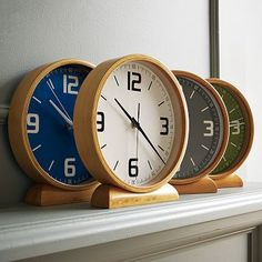 $34 I love the Wood Mantle Clocks on westelm.com