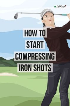 Golf Tips Swing Nothing beats the feeling of a solid, compressed iron shot. Let us help you compress your irons more frequently. Golf Putting Tips, Golf Practice, Golf Chipping, Chipping Tips, Golf Instruction, Golf Exercises, Workouts, Golf Tips For Beginners, Perfect Golf