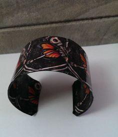 Day of the Dead Sugar Skull Cuff Bracelet by BleedingHeartDesigns, $25.00